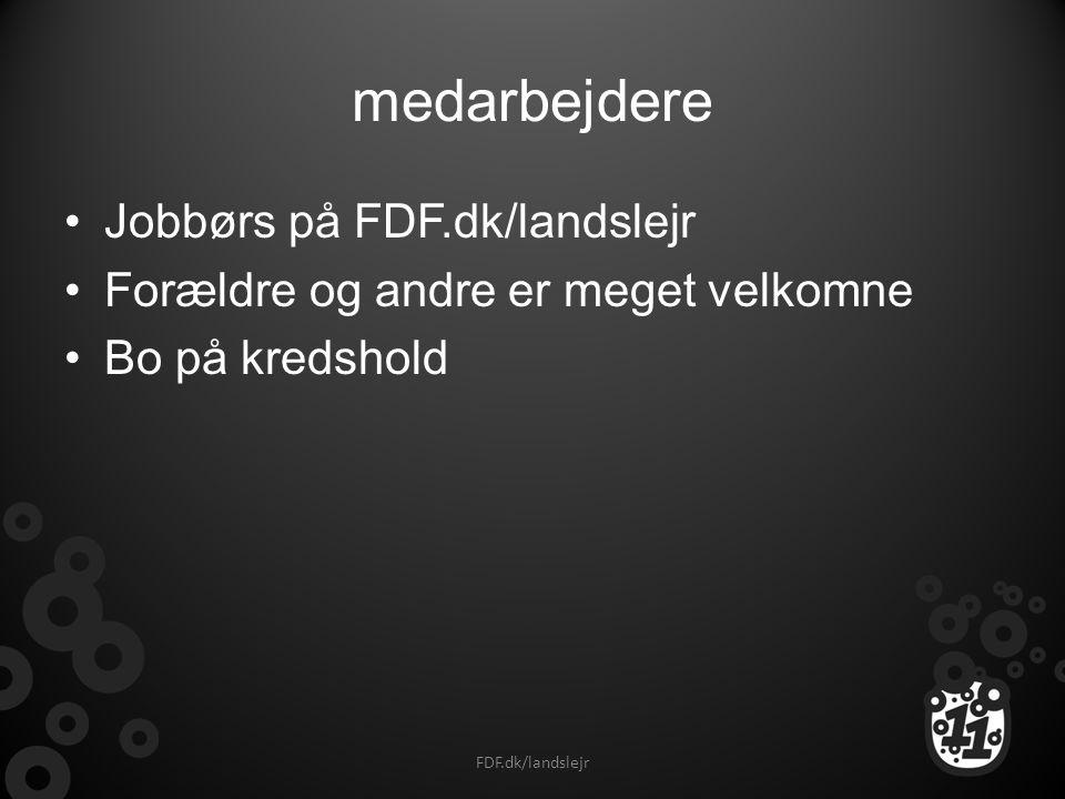 medarbejdere Jobbørs på FDF.dk/landslejr