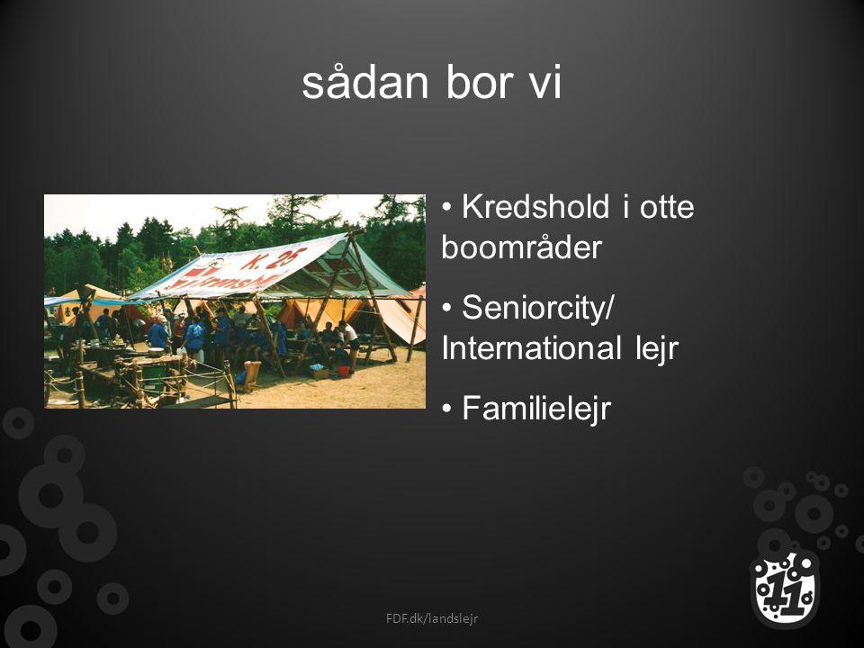 sådan bor vi Kredshold i otte boområder Seniorcity/ International lejr