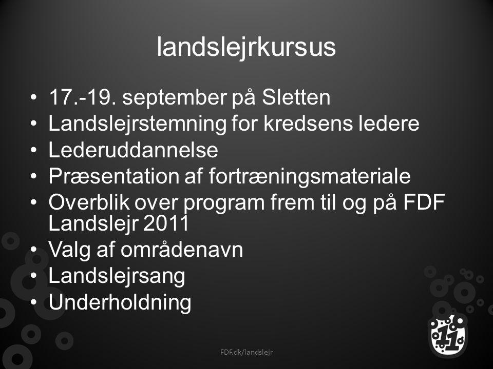 landslejrkursus 17.-19. september på Sletten