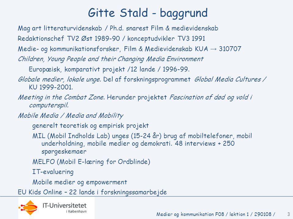 Gitte Stald - baggrund