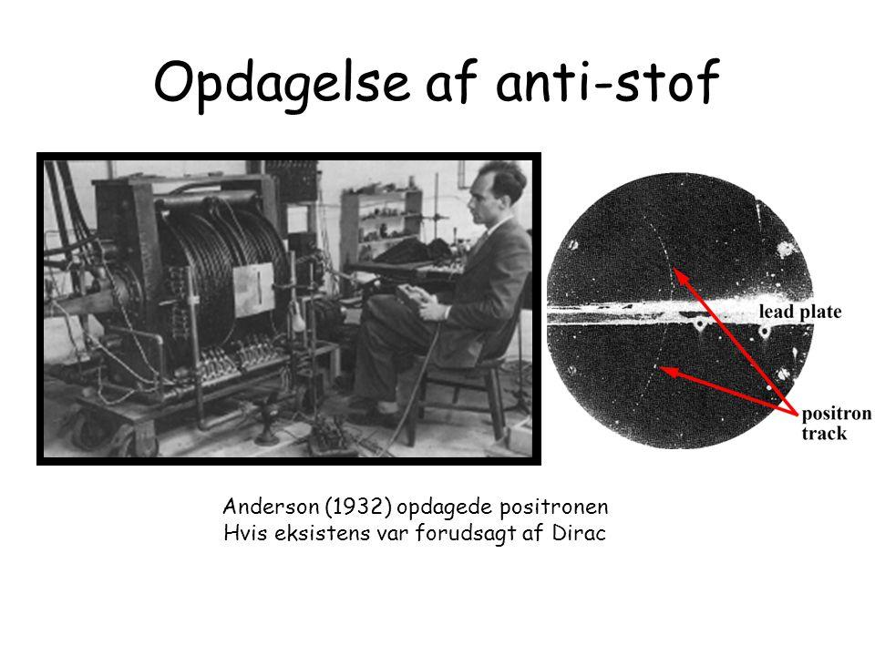 Opdagelse af anti-stof