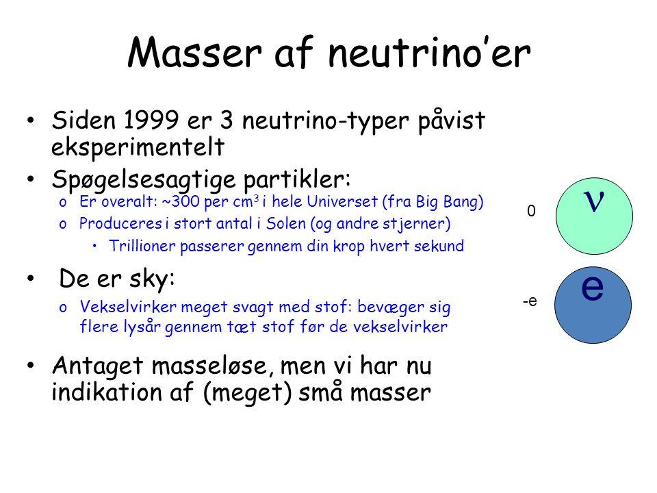 n e Masser af neutrino'er