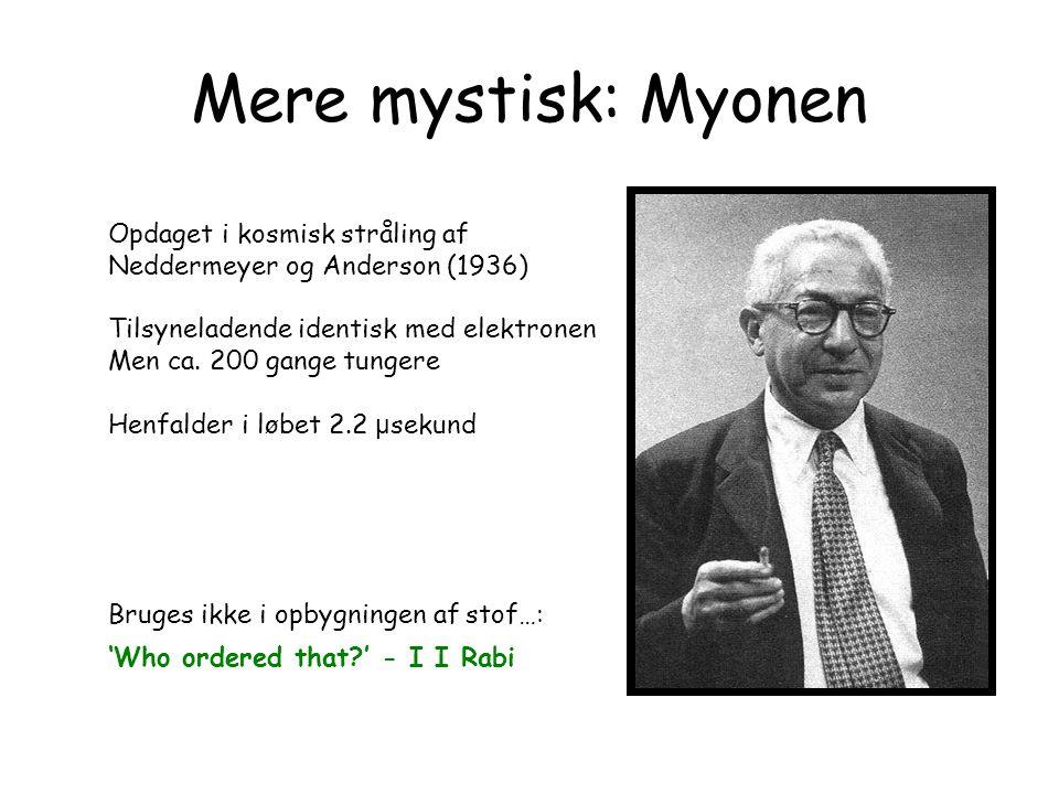 Mere mystisk: Myonen Opdaget i kosmisk stråling af