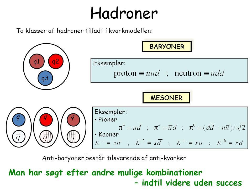 Hadroner Man har søgt efter andre mulige kombinationer