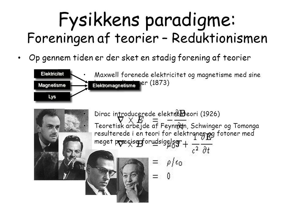 Fysikkens paradigme: Foreningen af teorier – Reduktionismen