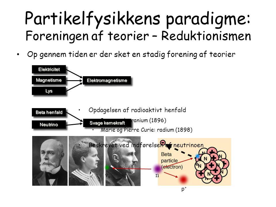 Partikelfysikkens paradigme: Foreningen af teorier – Reduktionismen