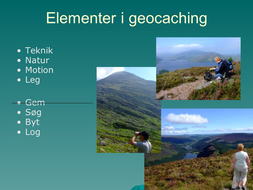 Elementer i geocaching