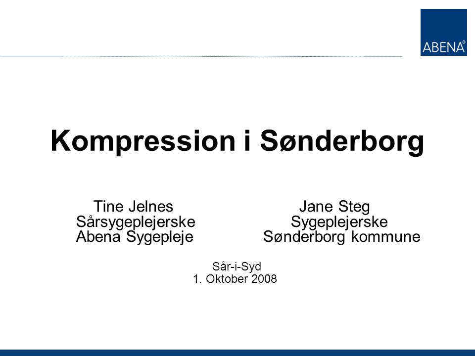 Kompression i Sønderborg