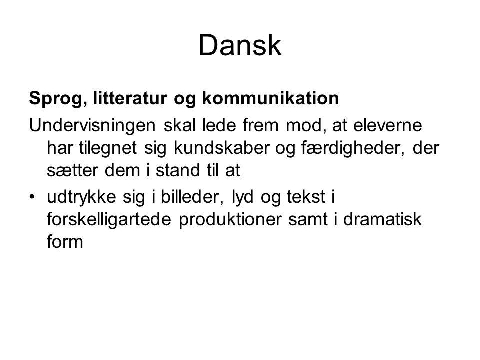 Dansk Sprog, litteratur og kommunikation