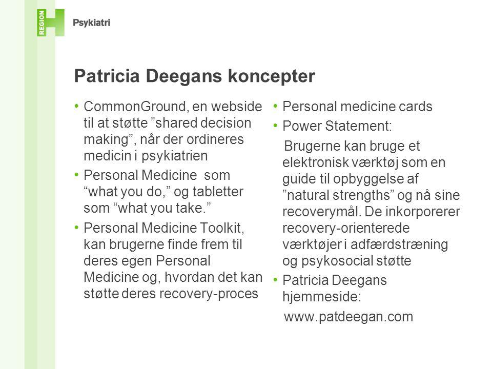 Patricia Deegans koncepter