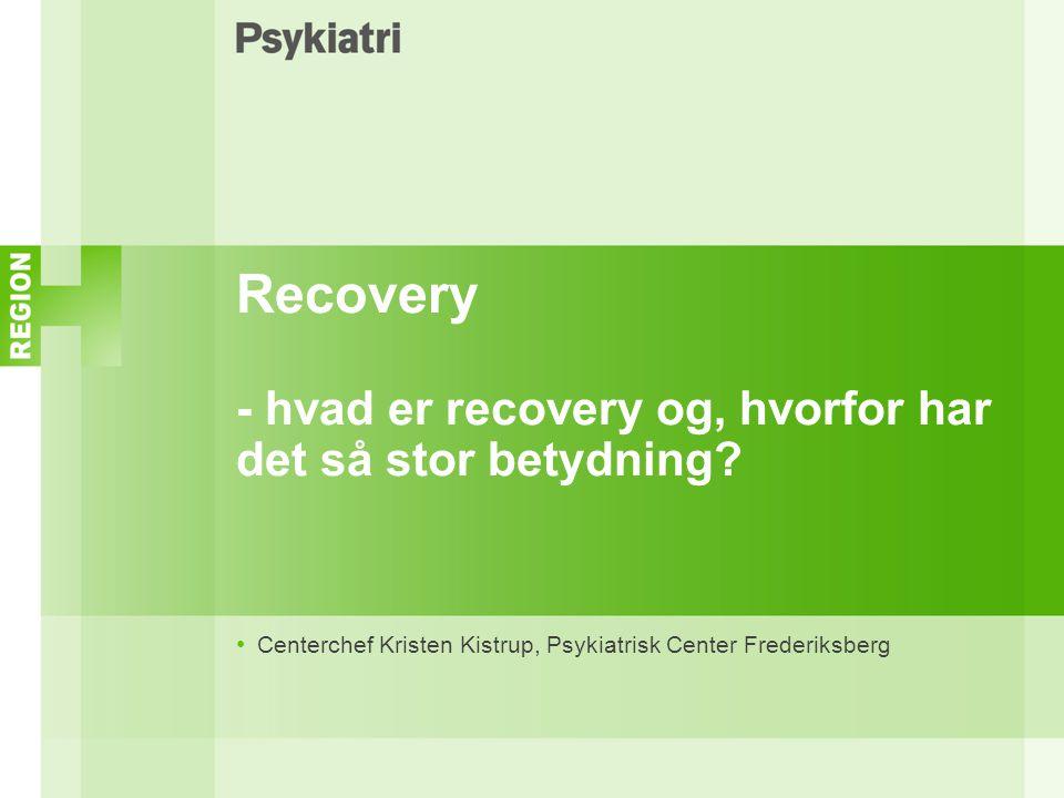 Recovery - hvad er recovery og, hvorfor har det så stor betydning