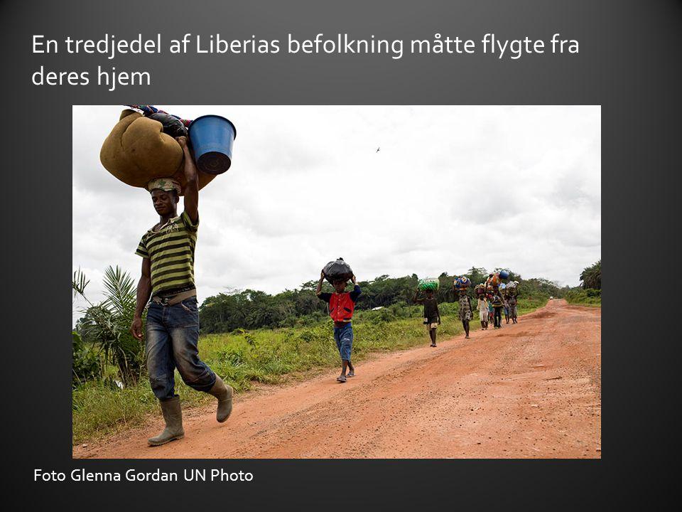 En tredjedel af Liberias befolkning måtte flygte fra deres hjem
