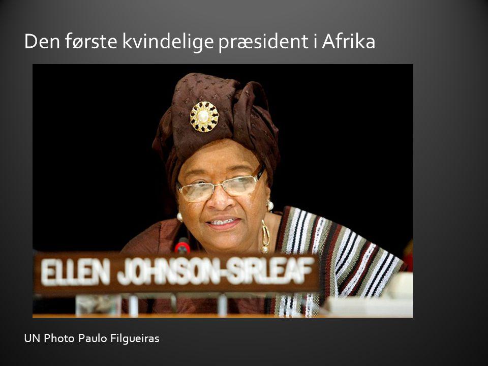 Den første kvindelige præsident i Afrika