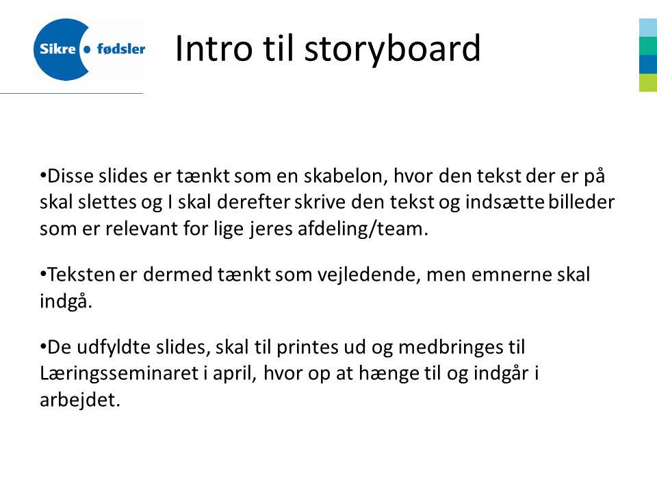 Intro til storyboard