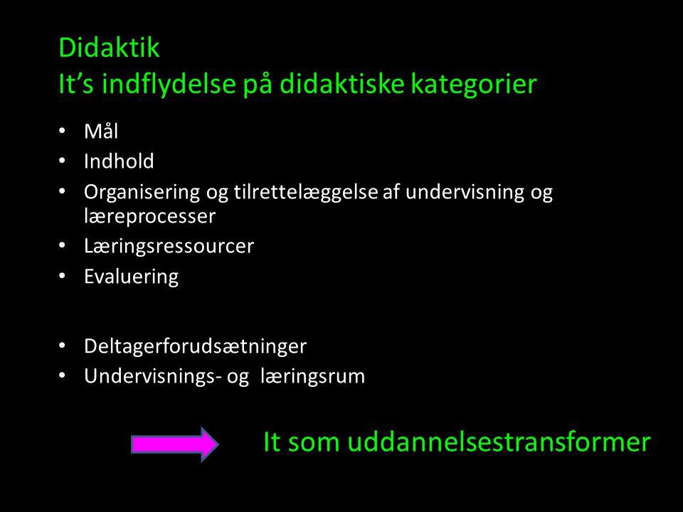 Didaktik It's indflydelse på didaktiske kategorier