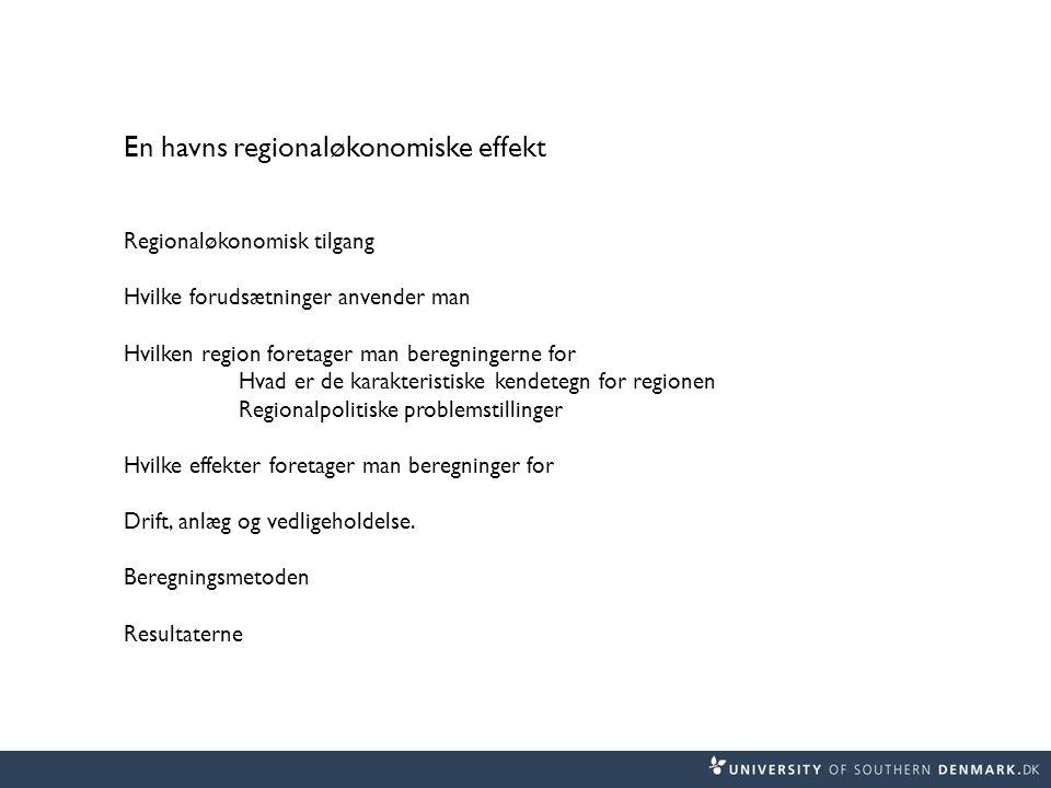 En havns regionaløkonomiske effekt