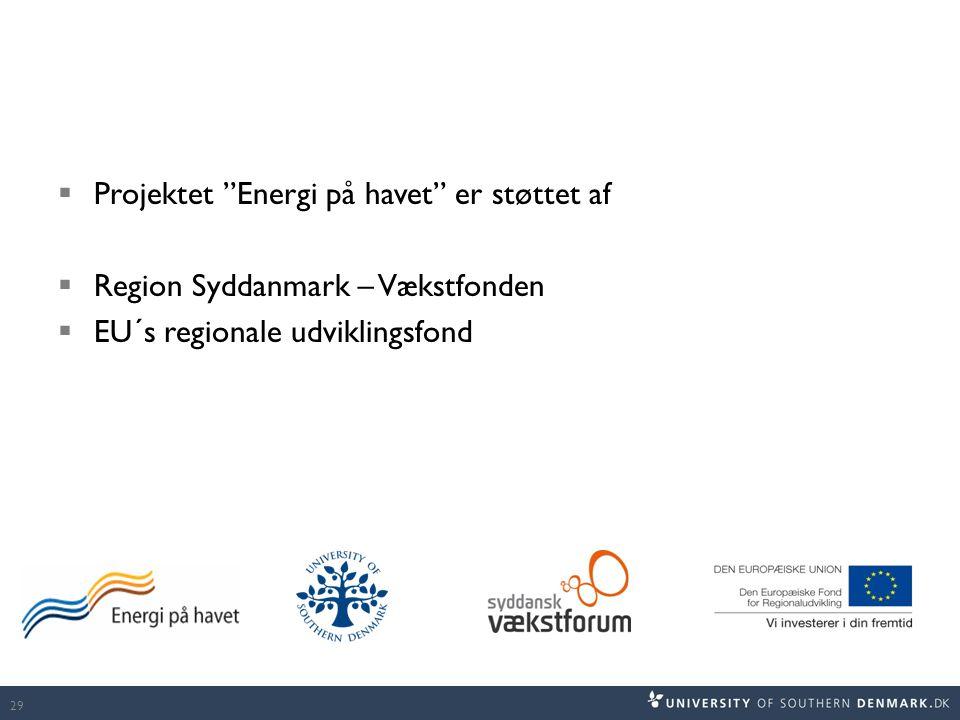 Projektet Energi på havet er støttet af
