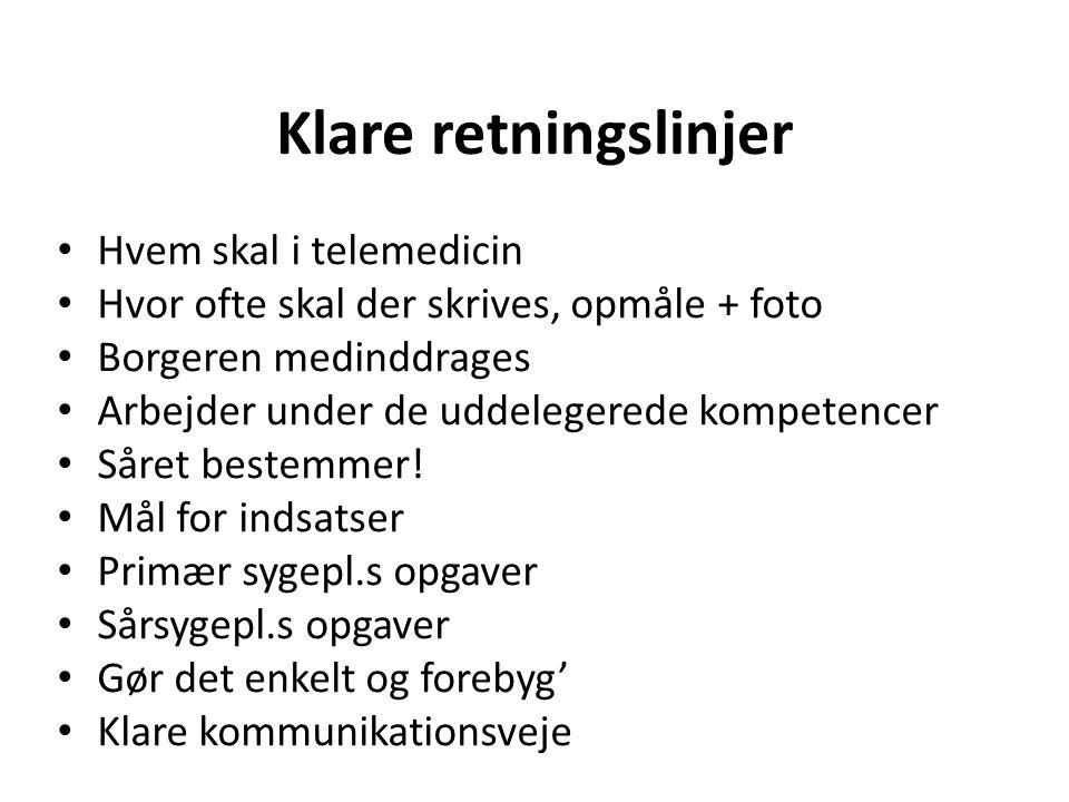 Klare retningslinjer Hvem skal i telemedicin