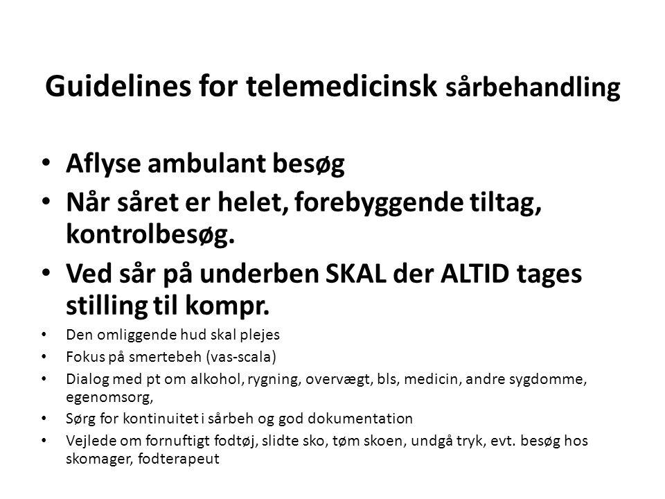 Guidelines for telemedicinsk sårbehandling