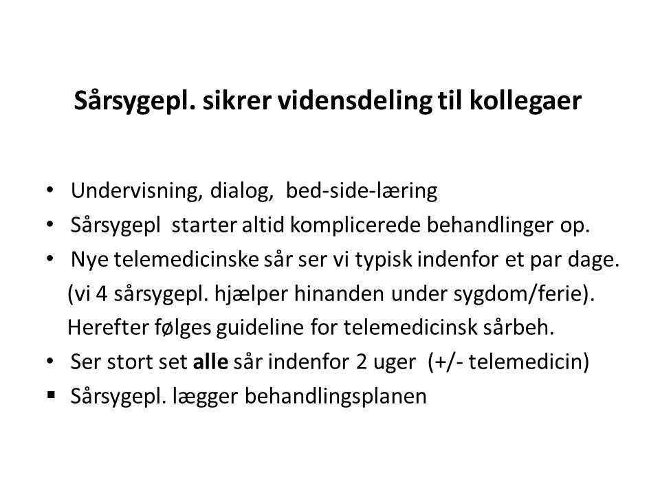 Sårsygepl. sikrer vidensdeling til kollegaer