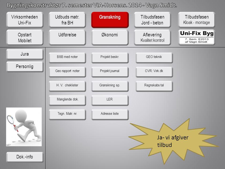 Ja- vi afgiver tilbud Virksomheden Uni-Fix Udbuds matr. fra BH
