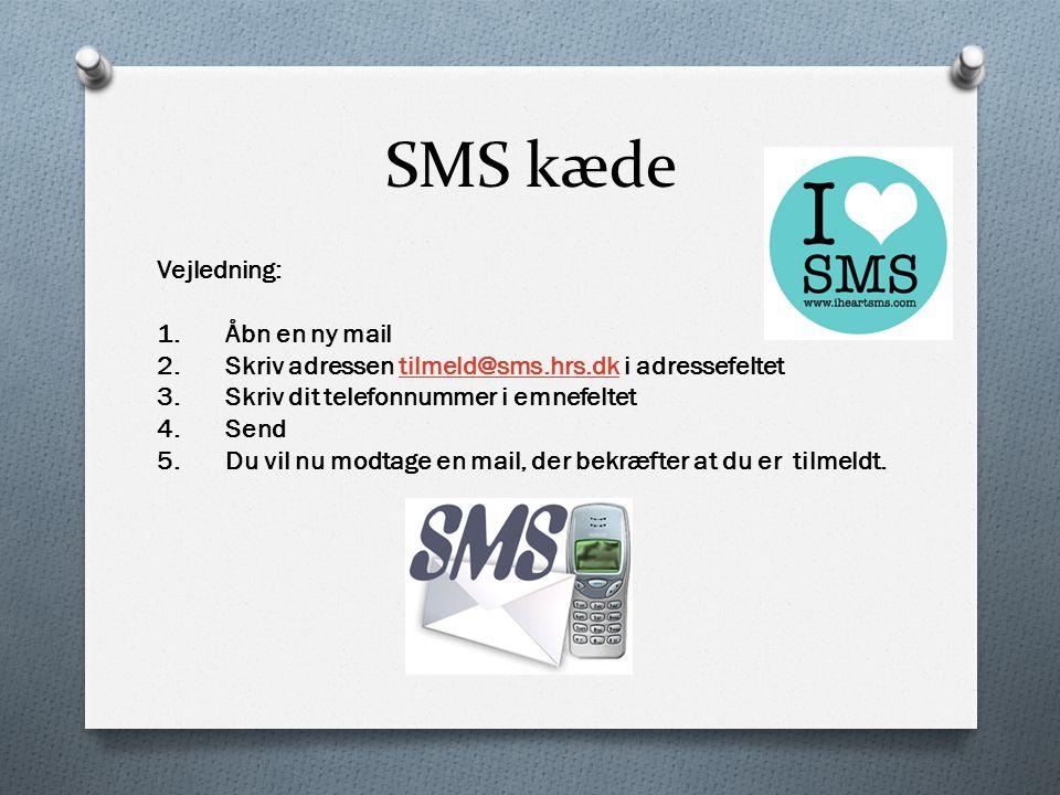 SMS kæde Vejledning: 1. Åbn en ny mail