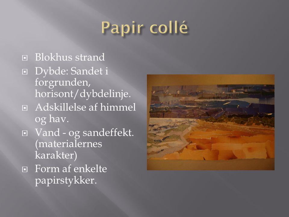 Papir collé Blokhus strand