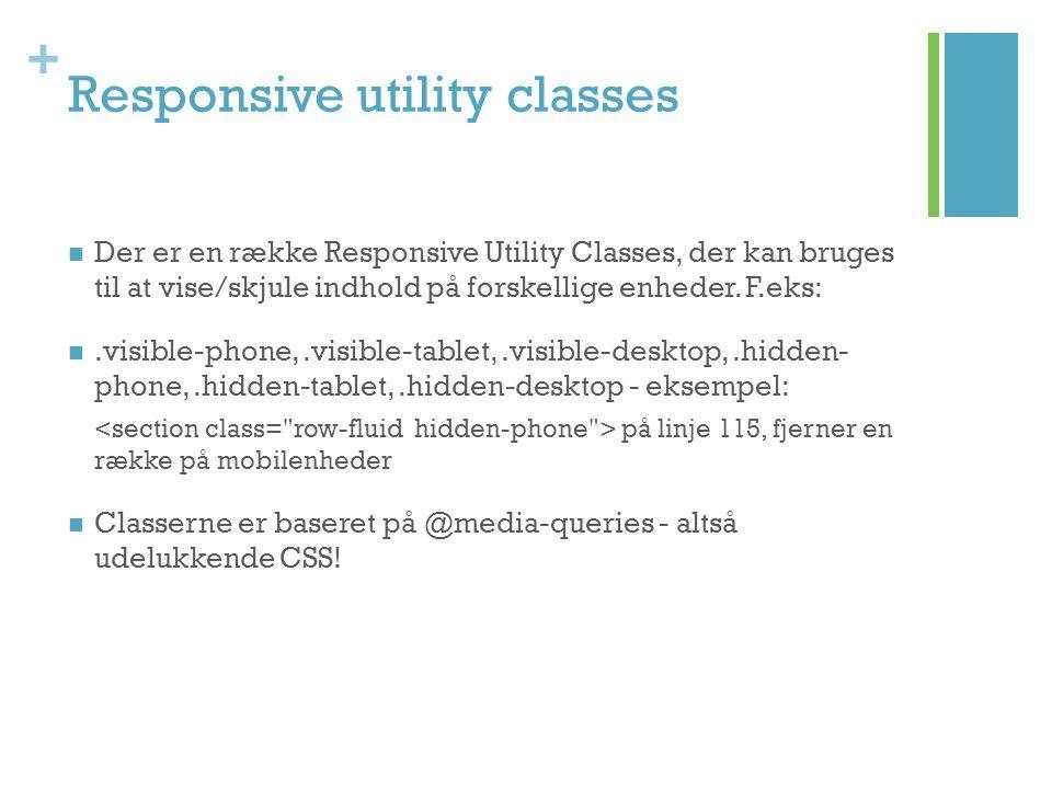 Responsive utility classes
