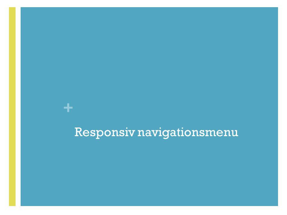 Responsiv navigationsmenu