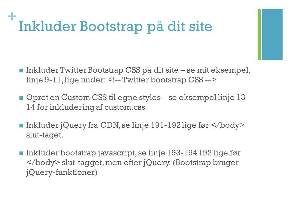 Inkluder Bootstrap på dit site