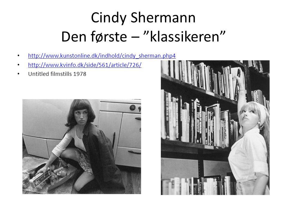 Cindy Shermann Den første – klassikeren