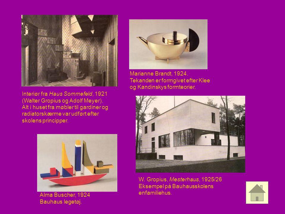 Marianne Brandt, 1924. Tekanden er formgivet efter Klee og Kandinskys formteorier.