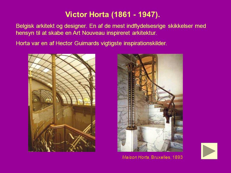 Maison Horta, Bruxelles, 1893