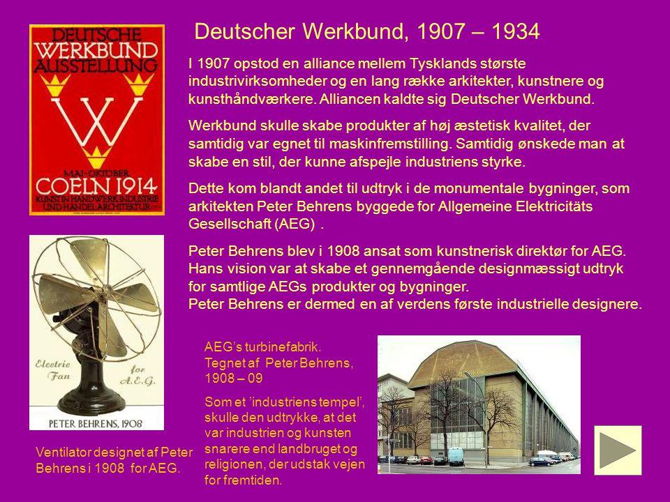 Deutscher Werkbund, 1907 – 1934