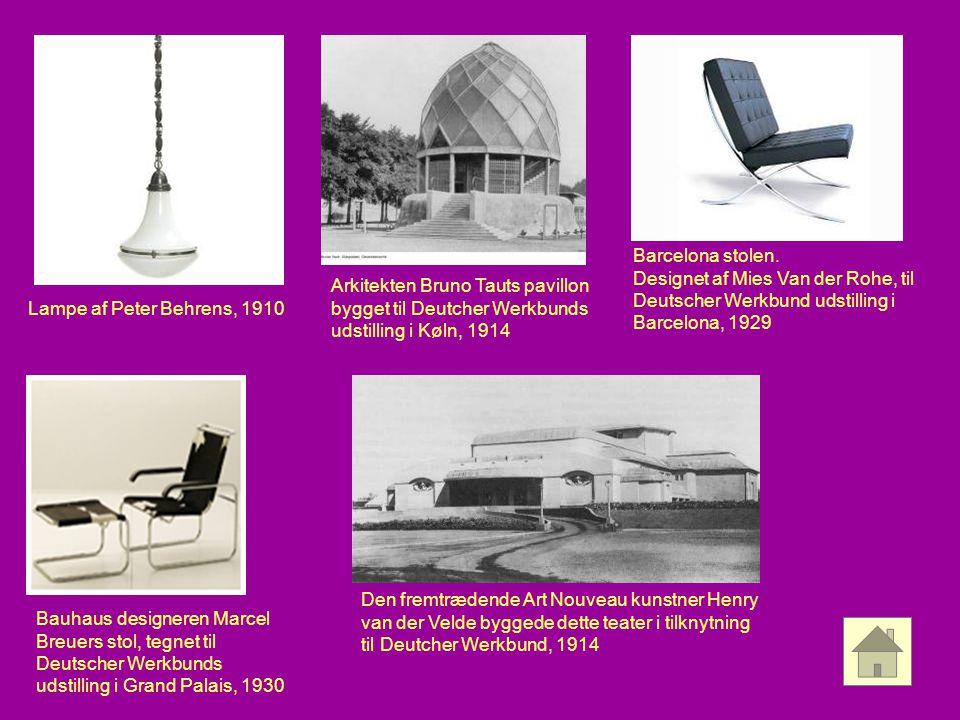 Barcelona stolen. Designet af Mies Van der Rohe, til Deutscher Werkbund udstilling i Barcelona, 1929