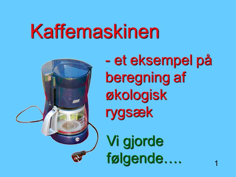 Kaffemaskinen - et eksempel på beregning af økologisk rygsæk