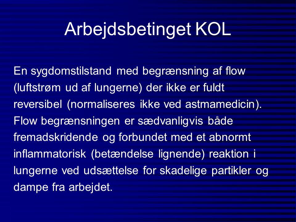 Arbejdsbetinget KOL En sygdomstilstand med begrænsning af flow