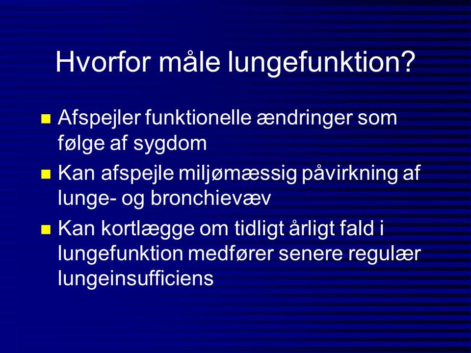 Hvorfor måle lungefunktion