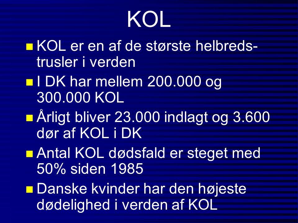 KOL KOL er en af de største helbreds-trusler i verden