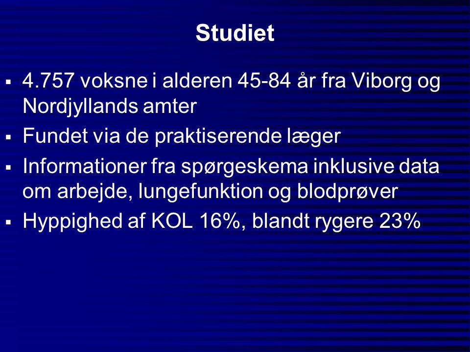 Studiet 4.757 voksne i alderen 45-84 år fra Viborg og Nordjyllands amter. Fundet via de praktiserende læger.