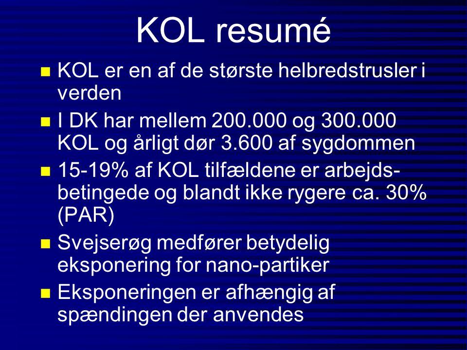 KOL resumé KOL er en af de største helbredstrusler i verden