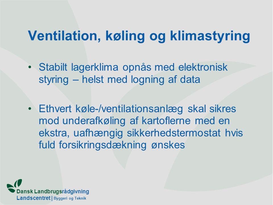 Ventilation, køling og klimastyring