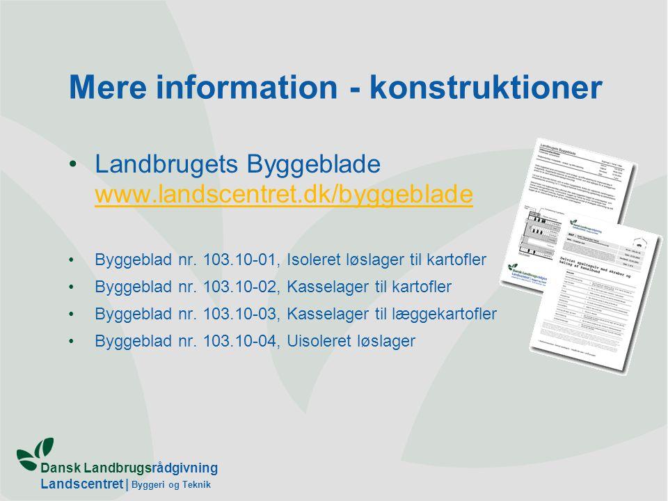 Mere information - konstruktioner