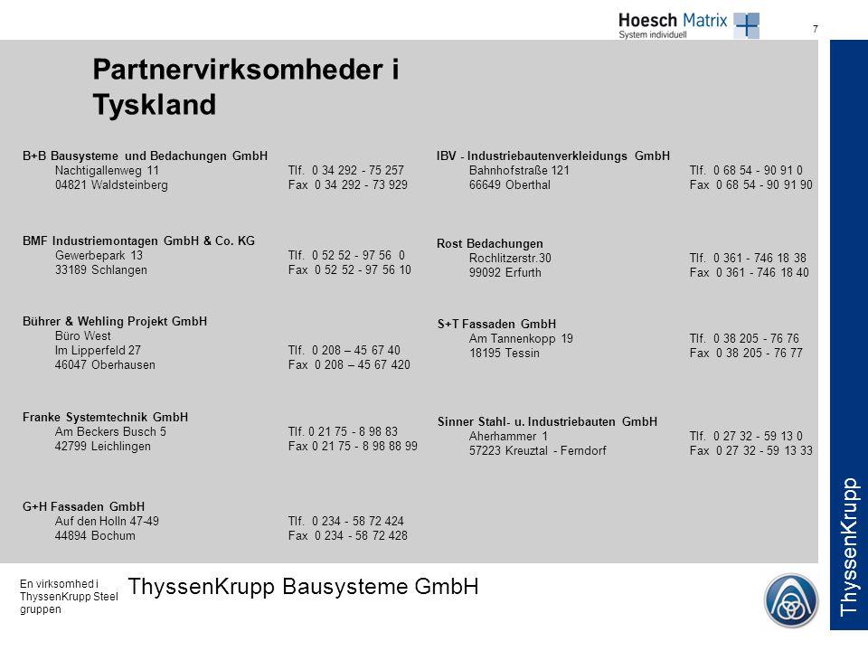 Partnervirksomheder i Tyskland