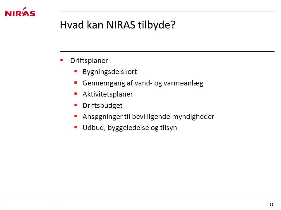 Hvad kan NIRAS tilbyde Driftsplaner Bygningsdelskort