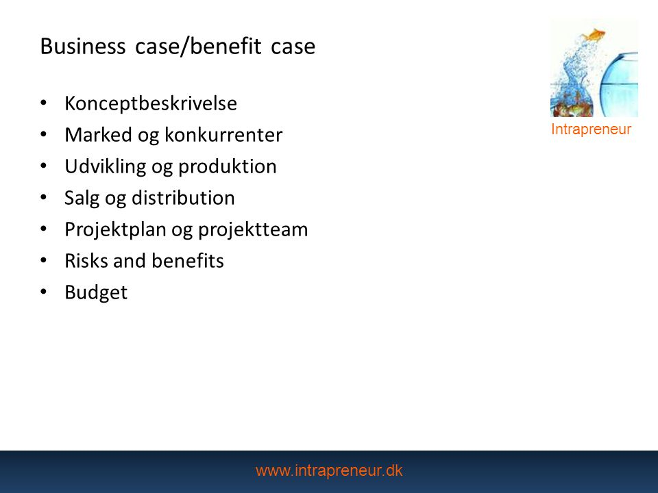 Business case/benefit case