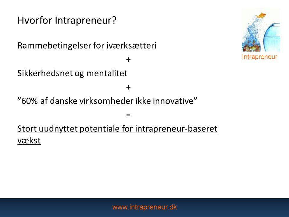 Hvorfor Intrapreneur Rammebetingelser for iværksætteri +