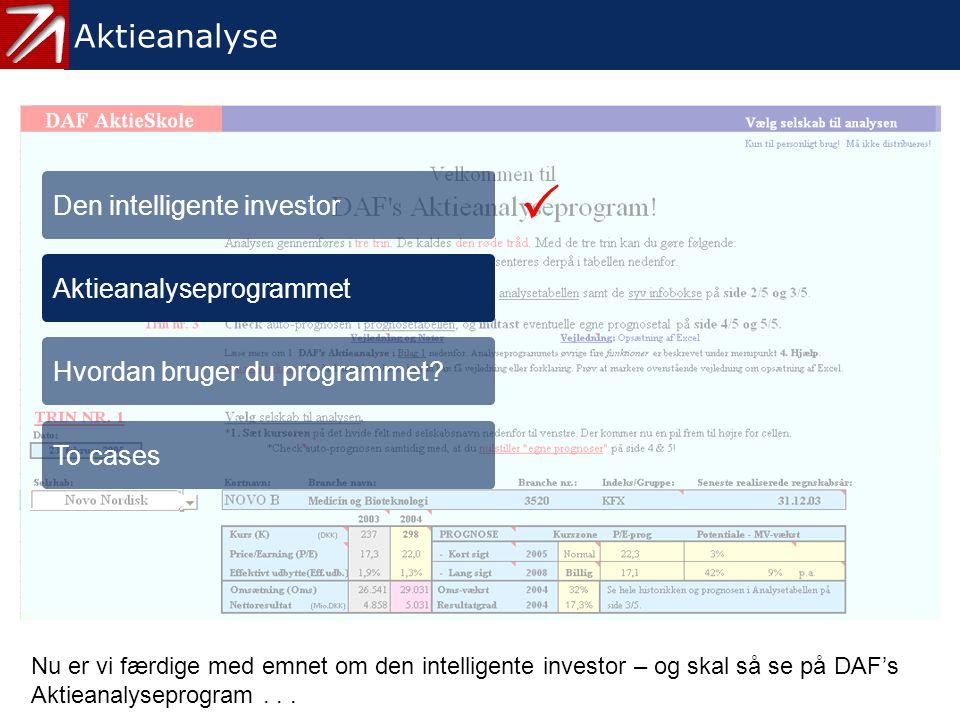 2. Aktieanalyseprogrammet - 1