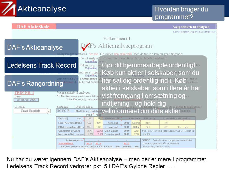 3.2 Ledelsens Track Record - 1