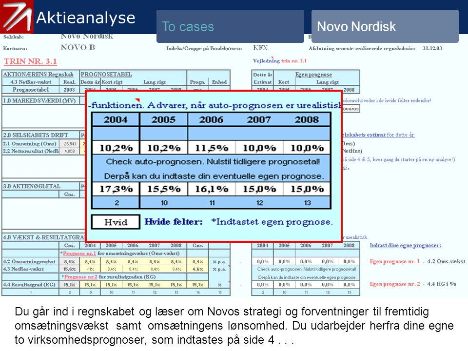 4. To cases - 8 Aktieanalyse To cases Novo Nordisk